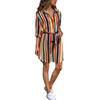 Women Summer Striped Shirt Dress Ladies Casual Long Sleeve Loose Beach Dresses 2018 Autumn Fashion Print Party Dress Vestido