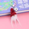 NEW high Quality Pure Wool Santa Claus Pendant Keychain With 18mm Snap button Female Male Accessories SH30
