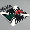car decal vinyl cut sticker vespa cross 12cm x 12cm car motorcycle car motorcycle waterproof vinyl decals