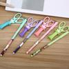 4 pcs lot kawaii flower sweet girl with scissor pendant gel pen 0.5mm gel pen black ink birthday party gift