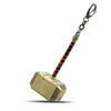 Mengtuyi Jewelry Keychain Thor Movie The Avenger Hammer Shaped 2 Colors Key Chains Ornament Holder Souvenir