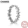 CHAMSS 100% 925 Sterling Silver 190934CZ DAZZLING DAISY CHAIN RING Ring Original Vintage Jewelry Factory Wholesale