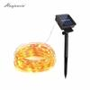 HUAJUNXIN 10M 20M Copper Wire Solar LED String lamp Fairy Holiday light Strip Decor Garden Lawn Wedding X'mas Party Ambiance light