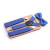 1 Set Colorful Kids Suspenders With Ties Set Child Braces Big Boys Girls Elastic Suspensorio Party Wedding Three Clip-on Straps