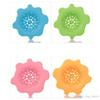 LeKing Flower Shape Silicone Kitchen Sink Strainer Filter Round Shape Sewer Drain Cover Stopper