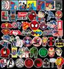 New 50Pcs Lot Car sticker Marvel Anime Classic Stickers Toy For Laptop Skateboard Luggage Decal Waterproof Funny Spiderman Stickers For kids
