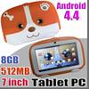"2018 Kids Brand Tablet PC 7"" 7 inch Quad Core children tablet Android 4.4 Allwinner A33 google player 512MB RAM 8GB ROM"