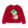Toddler Kids Baby Girls Boys Christmas Hats Elk Print Pullover Sweatshirt Tops Fashion long sleeve round neck warm top