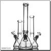 "18"" 9mm Glass Bong Beaker Ice thick elephant Joint waterpipe with 14 18 14mm bowl classical"