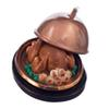 New 1:12 Dollhouse Miniature Christmas Turkey With Lid