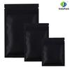 High quality 12 X 18CM, Metallic Mylar ziplock bags flat bottom Black Aluminum foil small zip lock plastic bags