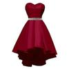 Sexy Sweetheart Beadeds Short Homecoming Dresses Burgundy Satin Graduation Dress Prom Dresses Short Cocktail Dresses Evening Party Gowns