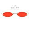 C6 Altın Çerçeve Kırmızı Objektif