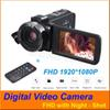 "24MP Digital Video Camera FHD 1080P Night-shot Hotshoe Digital Camcorder 3"" Touch screen 16X Digital Zoom 270 Rotatable + Remote Control"
