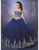 2019 Royal Blue Quinceanera Dresses Sweetheart vestidos de quinceaner Lace Appliques Ball Gown Prom Dress sweet 16 dresses
