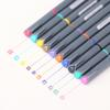 10 pcs Lot Fine line drawing pen for manga cartoon advertising design Water Color pens Stationery Office school supplies 6954