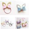 Girls Safe Stereoscopic Hairband Handmade Bow Headband Shinning Glitter Hair Ring Children Ornaments Kids Hair Accessories
