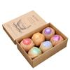 6pcs set Organic Bath Bombs Bubble Bath Salts Ball Essential Oil Handmade SPA Stress Relief Exfoliating Mint Lavender Rose Flavor 3006032