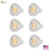 Zoopod 6 Pcs MR16 LED Light Bulbs,Non-Dimmable 3000K Warm White, 40 Degree, AC DC 12V, 3W, 30W GU5.3 Halogen Bulb Equivalent