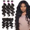 10A Mink Brazilian Virgin Hair Weaves Body Wave Straight 3 Bundles With 13x4 Ear to Ear Lace Frontal Hair Extensions Human Hair Wefts