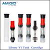 Itsuwa Amigo Liberty V1 tank Pyrex Glass Oil Cartridge Tank Wax 510 Thread Atomizer BUD Touch Wee Metal Tip Cartridges