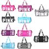Pink Duffel Bag Handbag letter Travel Bags Waterproof Casual Beach Exercise Luggage Bags Canvas Secret Storage Bag 10 style