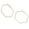 3 Color Punk Style Geometric Hexagon Hoop Earrings For Women Statement Jewelry Fashion Metal Alloy Rose Gold Earring Brincos