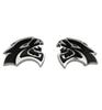 2PCS NEW Black HELLCAT Emblem Badge Sticker Decal Metal Fits Challenger SRT HEMI