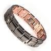 INOX Magnetic Copper Bracelet for Men Gunmetal with 30pcs Strong Magnets Adjustable 21.5CM 15MM