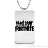 Fortnite Pendant Necklace FPS Game Logo Printing Customized Engraving Punk Style Jewelry Gift Fans Souvenir Wholesale