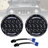 For Lada 4x4 Niva 2 PCS 105W 7 Inch Round LED Headlight with White  amber Turn Signal DRL For Jeep Wrangler Jk Tj 06-1