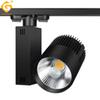Track Lighting Rail Lamp Spot 30W COB Clothing Shoes Shop Store Track Lights LED Rail Spotlight Light fixture 2 3 4 wire 3 phase 10pcs   lot