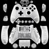 Xbox One Gamepad DIY Custom Matte White Replacement Housing Shell With Buttons For Wireless Controllers Gaming Gamepad