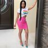 summer 2018 sexy lip club two piece women set crop top and skirt casual sets LIIP 2 piece outfits for women 3475