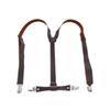 New Practical Superior Coffee Faux Leather Adjustable Band Suspenders Braces