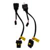 SKYJOYCE 1 Pair Easy Relay Harness For H4 High Low Beam HID Bulb H4 controller Relay Harness wire 1 for 1 h4 socket