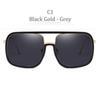 C1 Siyah Altın Çerçeve Gri Lens