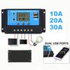 Solar Panel Regulator Charge Controller USB LCD Display Auto 10A 20A 30A 12V-24V Intelligent Automatic Connectors