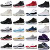 11 XI 11s Platinum Tint Men Casual Shoes designer Cap and Gown Prom Night Gym Red Bred Barons Concord 45 Cool Grey mens Casual Shoes