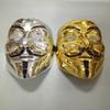Silver Gold Party Masks V for Vendetta Mask Full Face Party Cosplay Costume Mask for Men