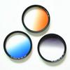 Camera gradual change mirror gray gradual change gray mirror gradual blue orange filter color filter 67mm 77mm 82mm