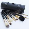 Hot Selling 9 pcs set Portable Travel Kits Wooden handle animal hair brush bucket make up brush with Round Barrel