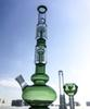 Double 4-Arms Tree Perc 16.5 Inch Glass Big Bongs Tall Water Pipes Beaker Bong Ice Pinch Dab Rigs With Diffused Downstem Oil Rigs GB1218