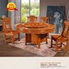 Round table hotel dining and dining room table turntable wish table 1.3 1.5 1.8 m solid wood home