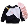 DZIECKO Baby Girls Unicorn Tops Chlidren T shirts 2018 Autumn Winter Kids Tee shirt Fleece Cotton Sweatshirts for Girls Clothes