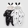 Winter Baby Romper Panda Star Pattern Jumpsuit Hooded Snowsuit Baby Girls Winter Down Cotton Coat Outerwear Children