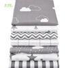 Chainho Twill Cotton Fabric,Patchwork Gray Tissue Cloth,DIY Sewing Quilting Fat Quarters Material For Baby&Children,7pcs lot