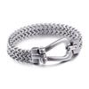 2018 Fashion Jewelry Silver Color High Polished 316L Stainless Steel Men Bracelet Link Chain Bracelets & Bangles