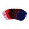 1000pcs Fashion 7*9cm Velvet Bag Drawstring Pouch 6colors Calabash Shape Jewelry Packing Wedding Christmas Gift Bag