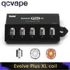 Original Yocan Evolve Plus XL Coils Head Wax Quad Quatz Rod Replacemen Coils With Coil Cap For Evolve Plus XL vape Kit